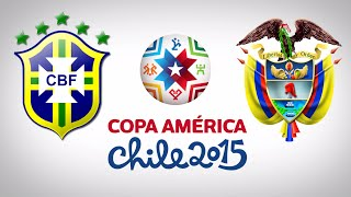 PES 2015 - COPA AMÉRICA I BRASIL X COLÔMBIA - 01ª RODADA