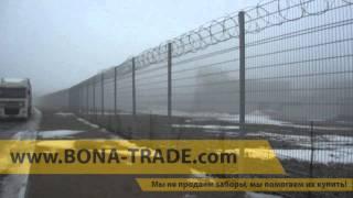 видео панельный забор