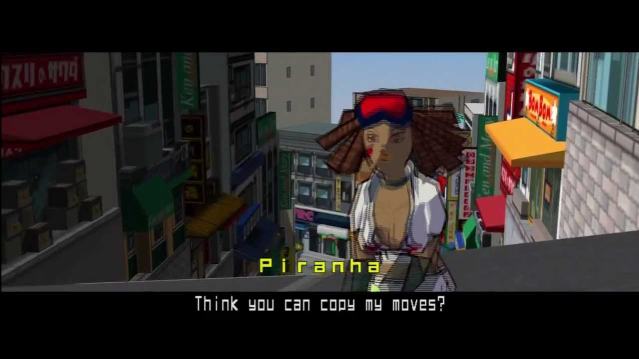Jet Set Radio Hd Walkthrough Part 12 Unlocking Piranha Damn Girl