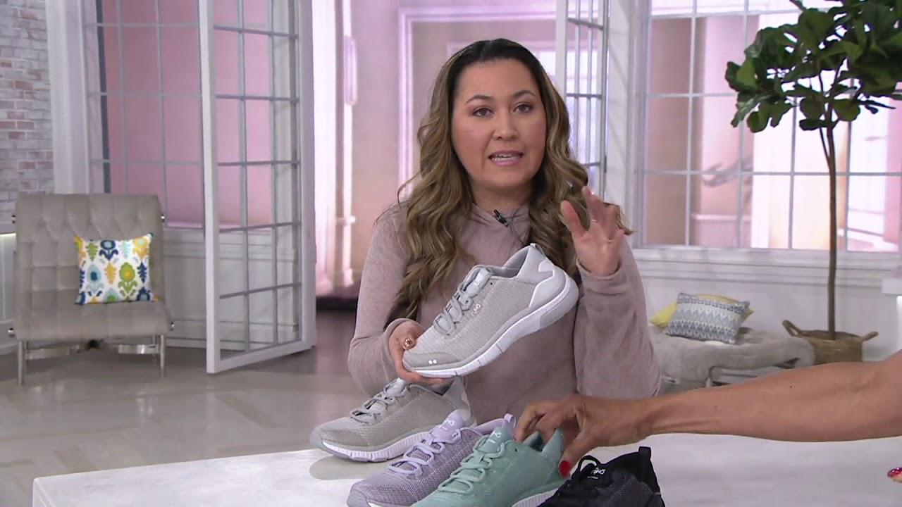 Ryka Mesh Lace-Up Walking Sneakers