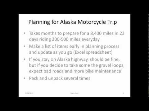 Planning an Alaskan Motorcycle Trip