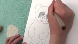 Cute Drawing Of Stuffed Animal Panda 🐼