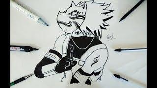How To Draw Kakashi Hatake Manga Style