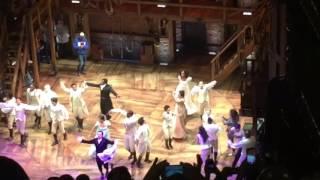HAMILTON cast sings Go Cubs Go after 11/3 performance