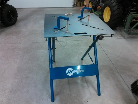 "Miller 30FX ArcStation 30""x 30"" Welding Table My Review By KVUSMC'"