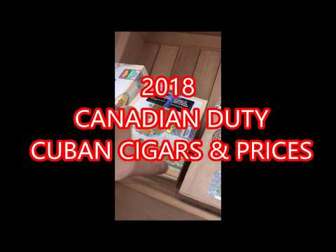 DUTY FREE CUBAN CIGARS (BRANDS & PRICES)