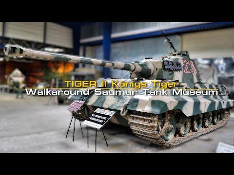"""Tiger II """"Könings Tiger"""" - Walkaround. Saumur Tank Museum - Musée Des Blindés 60FPS"""