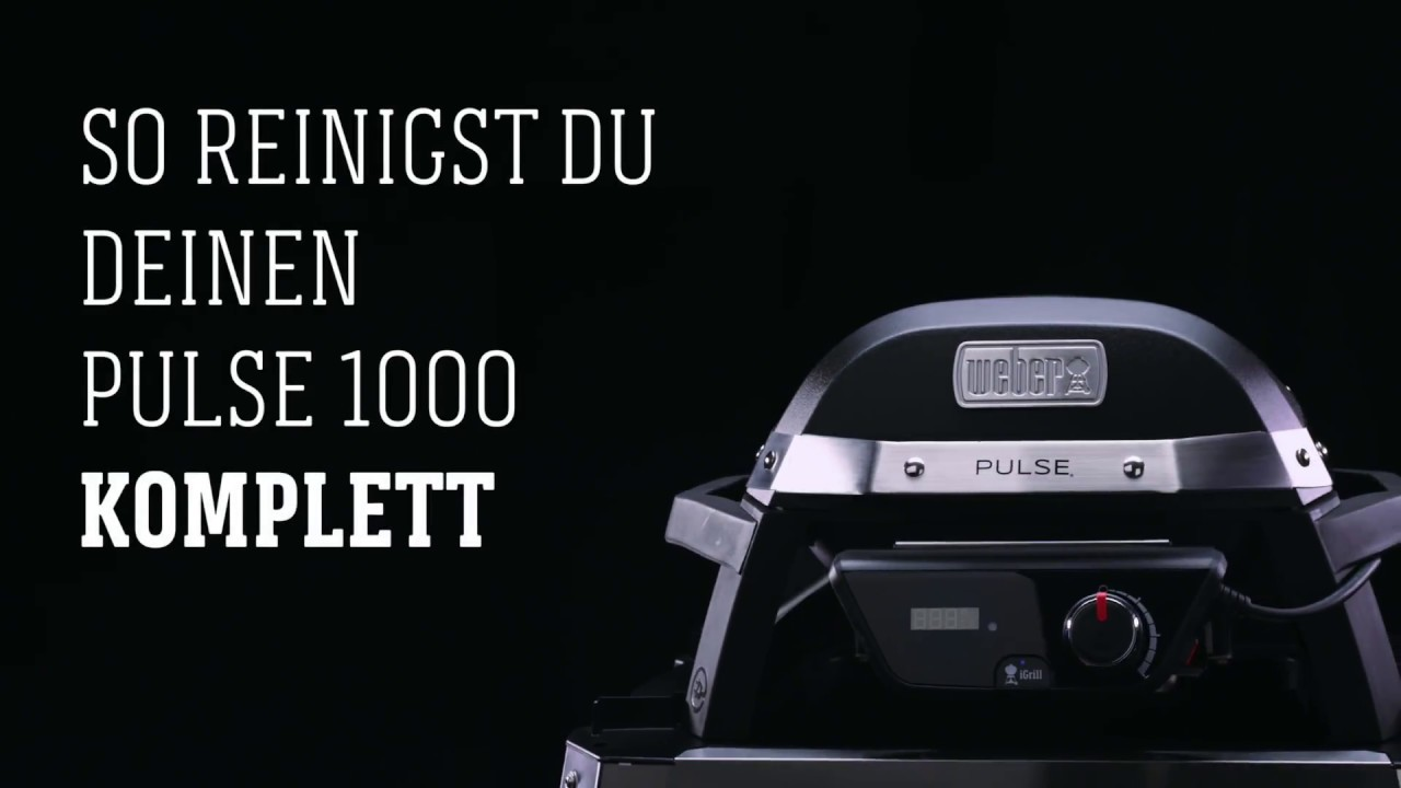 Weber Elektrogrill Pulse Reinigen : Weber stephen grill pulse komplettreinigung youtube