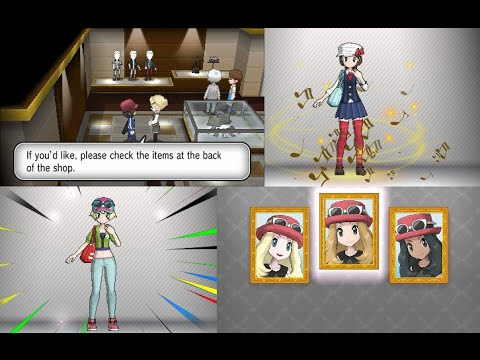 no character customization in pokemon omega ruby and alpha