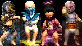 MORTAL KOMBAT Babalities (Kratos, Mileena, Shang Tsung, Noob Saibot)