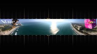 V.360 Camera Space Balloon - Pan Through the AMAZING View!