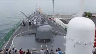護衛艦「いなずま」76mm速射砲作動展示