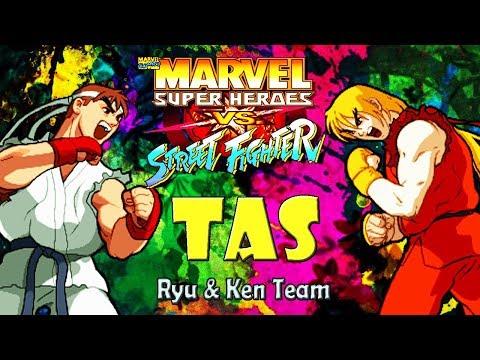 [TAS]  Ryu & Ken - Marvel Super Heroes Vs. Street Fighter