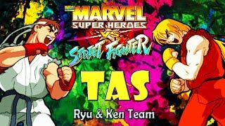 [TAS]  Ryu & Ken - Marvel Super Heroes vs. Street Fighter