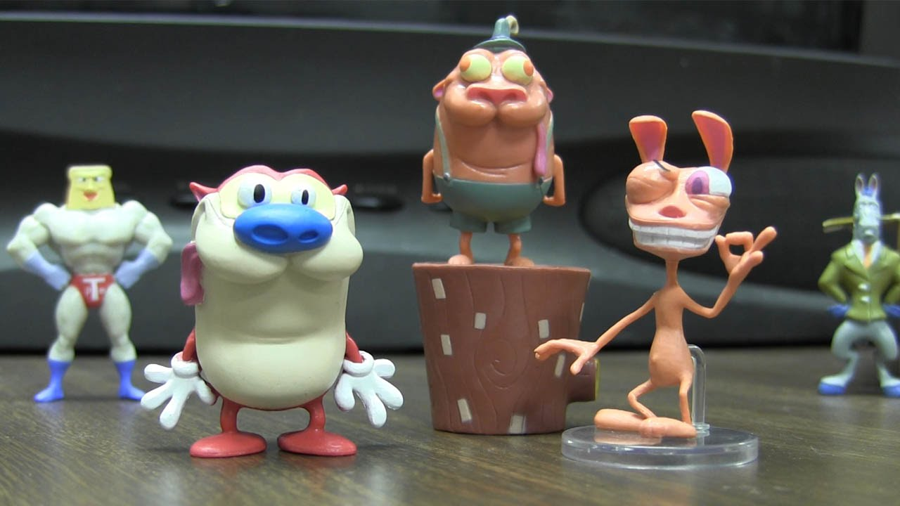 Nickelodeon Ren and Stimpy Small Collectible Figures Toys