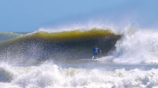 THE BEST WAVES I EνER SURFED IN NEW JERSEY! (HURRICANE LARRY)