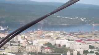 Покраска телебашни. Мурманск