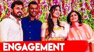 Karthi & his Wife  Attends Vishal Anisha Engagement | Video | Hot Cinema News