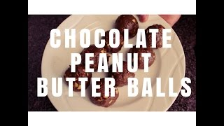 Chocolate Peanut Butter Protein Balls!