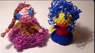 КУКЛА ЛУМИГУРУМИ /амигуруми из резинок Rainbow Loom/ DOLL Loomigurumi,  Радужки Rainbow Loom