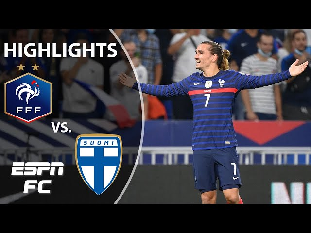 Antoine Griezmann at the double as France fends off Finland   UEFA WCQ Highlights   ESPN FC
