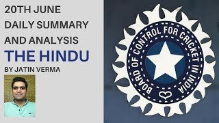 20th June The Hindu Daily Summary