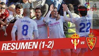Resumen de Real Sporting vs Real Zaragoza (1-2)