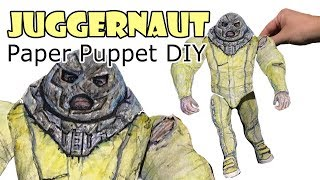 Making Juggernaut From (Deadpool 2 Movie) Paper Puppet - DIY | 2018 HD