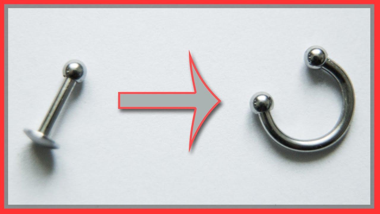Piercing öffnen kugel Piercingschmuck wechseln