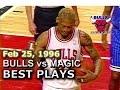 Feb 25 1996 Bulls vs Magic highlights