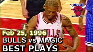 Feb 25 1996 Bulls vs Magic highlights