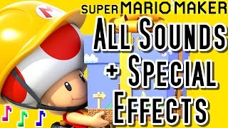 Super Mario Maker ALL SOUNDS and SPEC AL EFFECTS Wii U