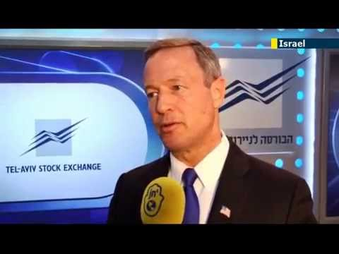 Ron Jacobsohn Meets Governor O'Malley at the TLV Stock Exchange