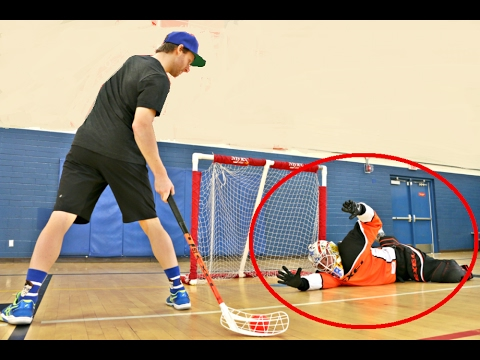 PAVEL BARBER VS. KANE VAN GATE Floorball Shootout Challenge