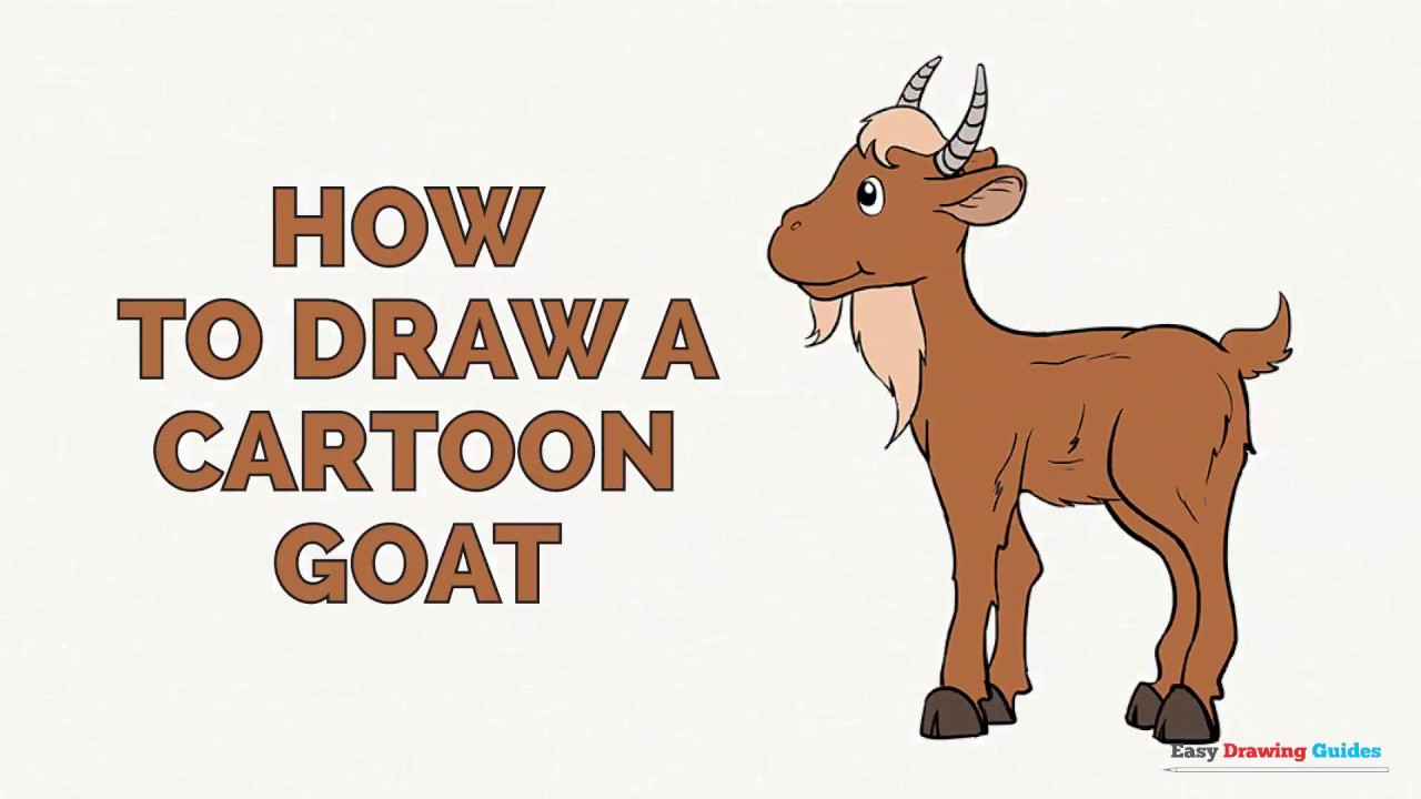 how to draw a cartoon goat in a few easy steps drawing tutorial for kids and beginners