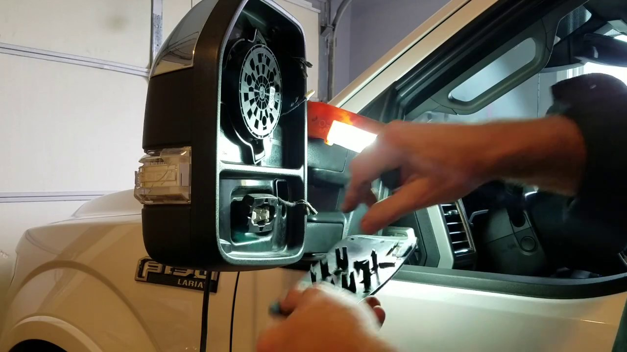Ford F150, 2015, Drivers Side Mirror Repair (New Updated