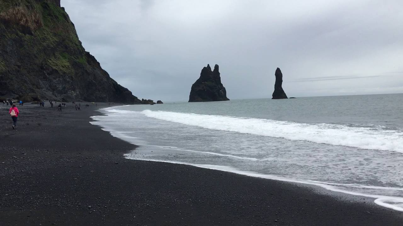 black sand beach iceland youtube. Black Bedroom Furniture Sets. Home Design Ideas