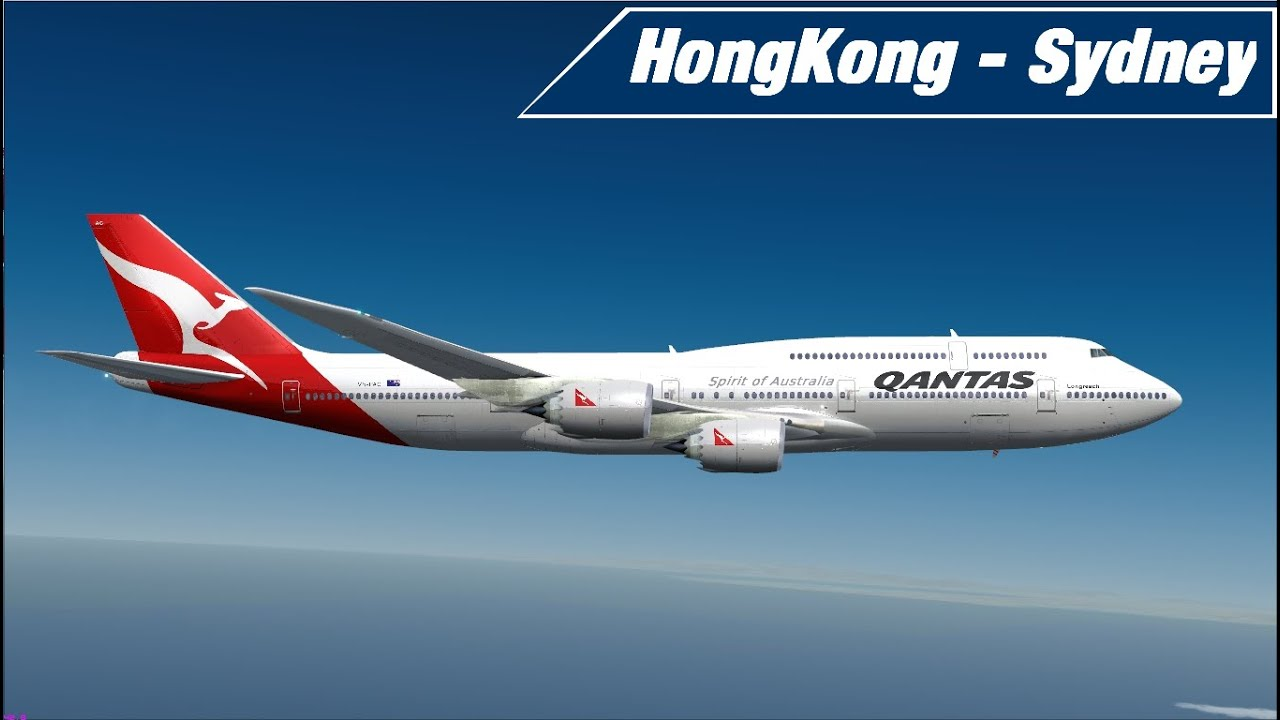 flight simulator x hongkong sydney qantas pmdg 747. Black Bedroom Furniture Sets. Home Design Ideas