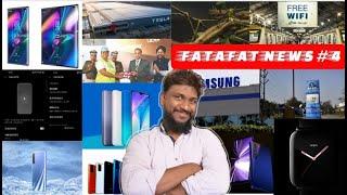 Fatafat Tech News 4,Redmi Dual8A,Google Free WiFi,RealmeX50 Pro,Oppo Smartwatch,Uber,Tesla,TCL Phone
