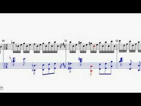 Firth of Fifth Piano Introduction (animated sheet music)