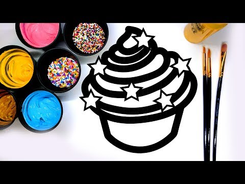 Thumbnail: Coloring Cupcake Painting Pages with Paint, Learn to Color with Paint for Kids