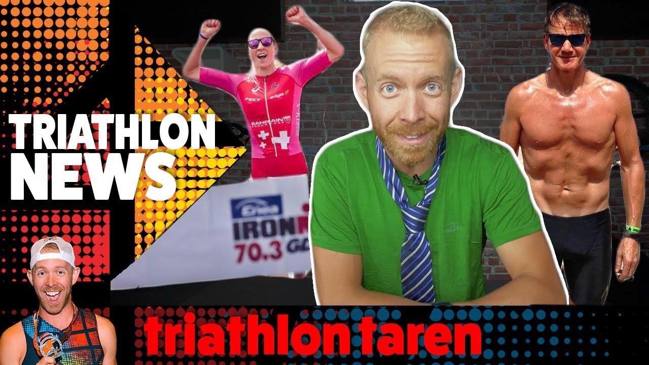 TRIATHLON NEWS Aug 7, 2018: Gordon Ramsay loses 56lbs with Triathlon,  DANIELA RYF 70 3 world record