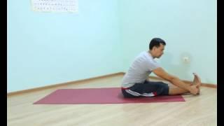 Аштанга йога для начинающих.  Урок № 45.  Проброс назад тренировка