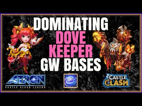 ATLANTICORE WRECKING DOVE KEEPER & EMPOWER BASES IN GUILD WARS - CASTLE CLASH