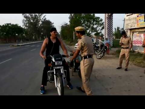 After chokeslaming two Police Constable Shanky Singh was finally stopped at a Police checking Nakka