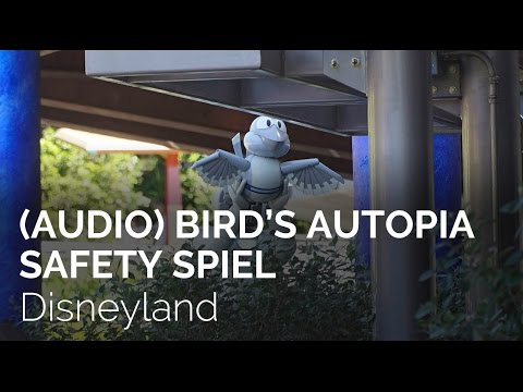 (Audio) Bird's Autopia Safety Spiel (English and Spanish) at Disneyland!