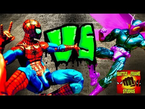Spiderman Vs Beetle (stop motion) with Subtitles - YouTube