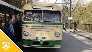 Historischer Obus 59 auf Rittertour in Solingen