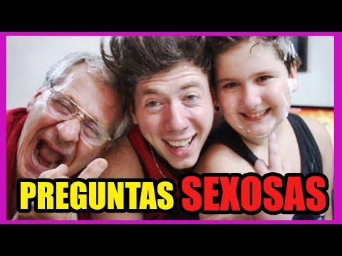 PREGUNTAS SEXOSAS con MI ABUELO Y HERMANO | LUCAS CASTEL