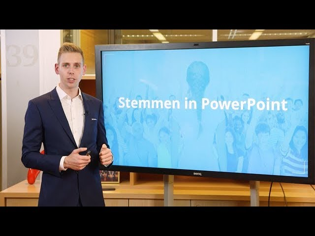 Stemmen In Een PowerPoint Presentatie